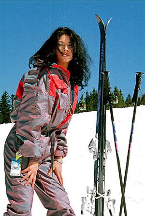 Nackt beim Ski