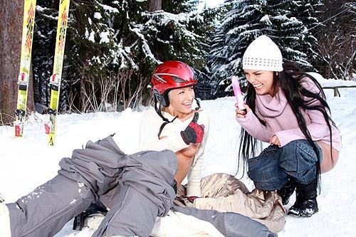 sex im schnee behaarter arsch